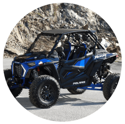 blue Polaris UTV Rental