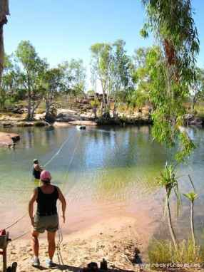 Crossing Manning River by boat
