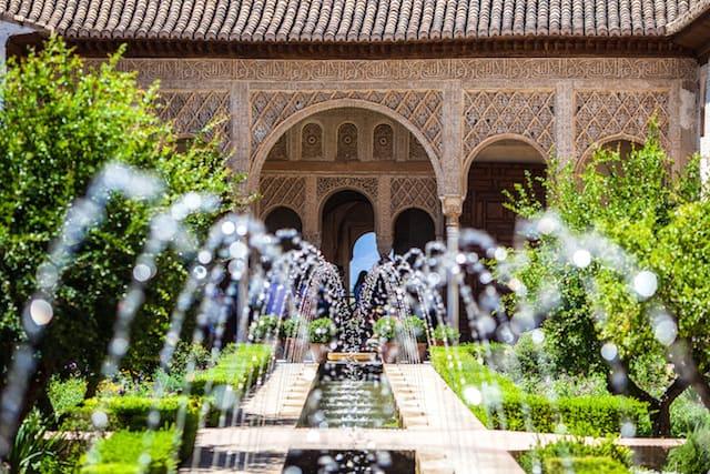 Gardens of the Generalife in Spain part of the Alhambra Grenada Spain