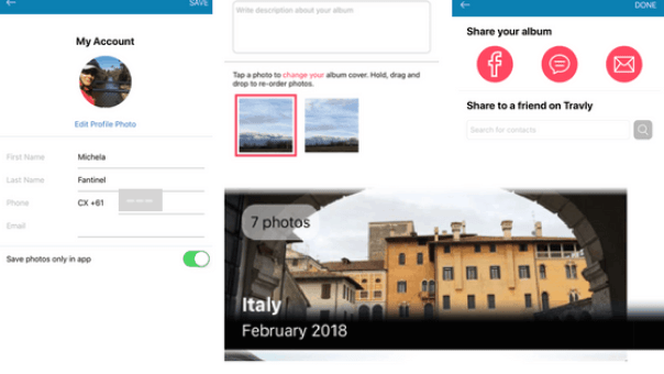 How to use the Travly Photo App
