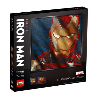 Rocobricks. LEGO ART. Set de LEGO de coleccionista. Marvel