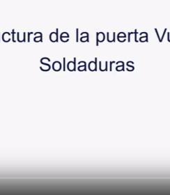 Vídeo sobre los puntos de soldadura de la puerta modelo VULCANO