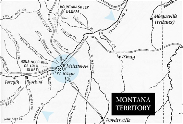 Location of Ft. Keogh, Montana