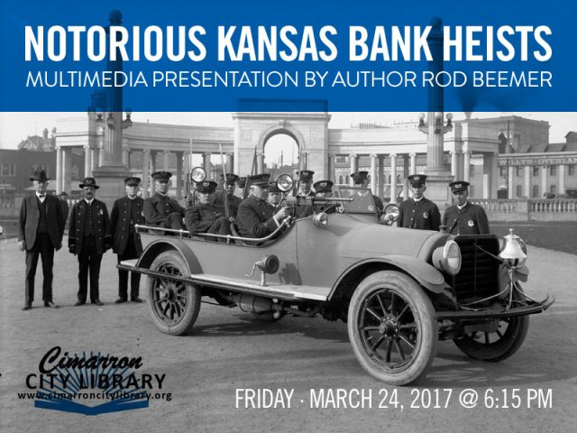 Author to give Kansas bank robbery presentation Friday, March 24