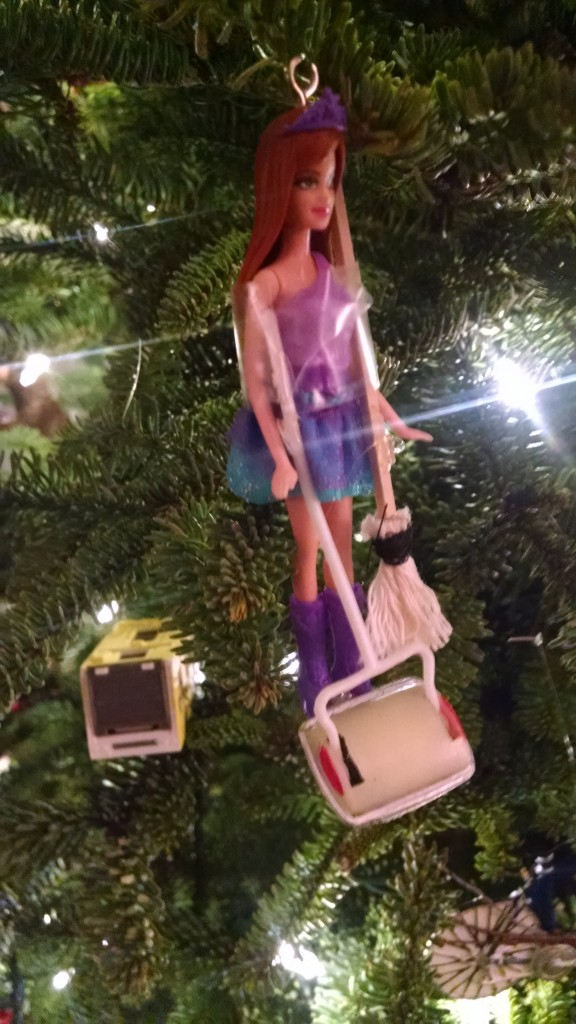 If you should happen to hire a housekeeper whom your wife and mother-in-law are convinced moonlights as a stripper, this is the ornament you will receive.