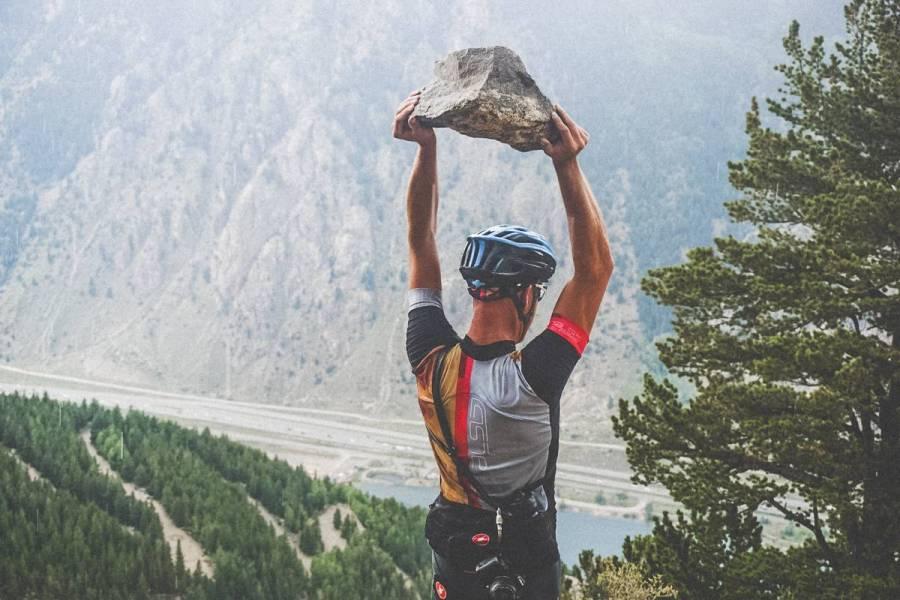 Tossing cobbles. World's Worst Climb™