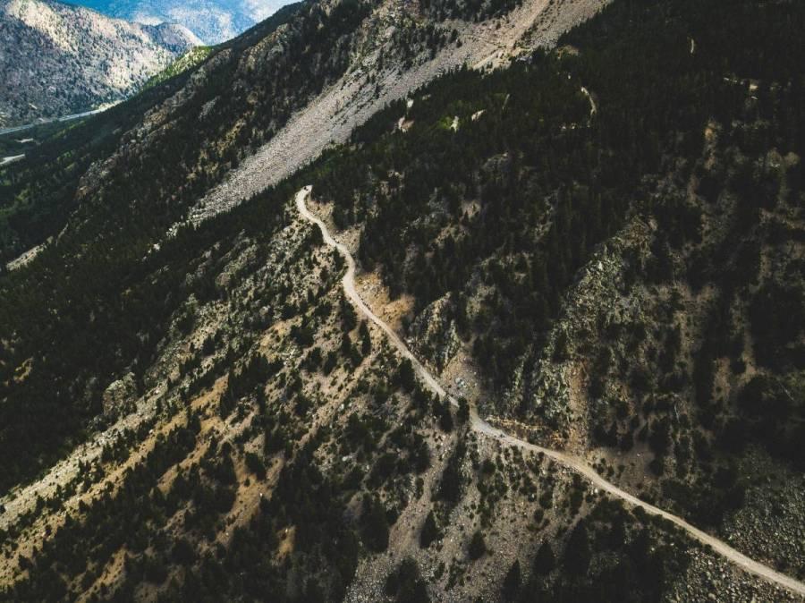 Saxon Mountain Road scree fields. The Word's Worst Climb.