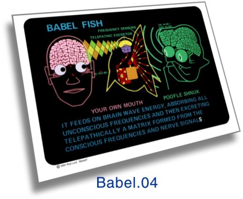 Babel fish graphic by Rod Lord