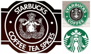starbucks original logo and current logo