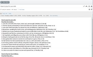 Actual Prayer List