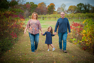 Wagers Family Portraits, Butler Winery, Monroe County, Indiana