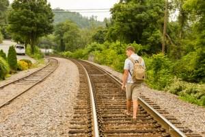 Rodney Smith Photography, train tracks, senior portrait