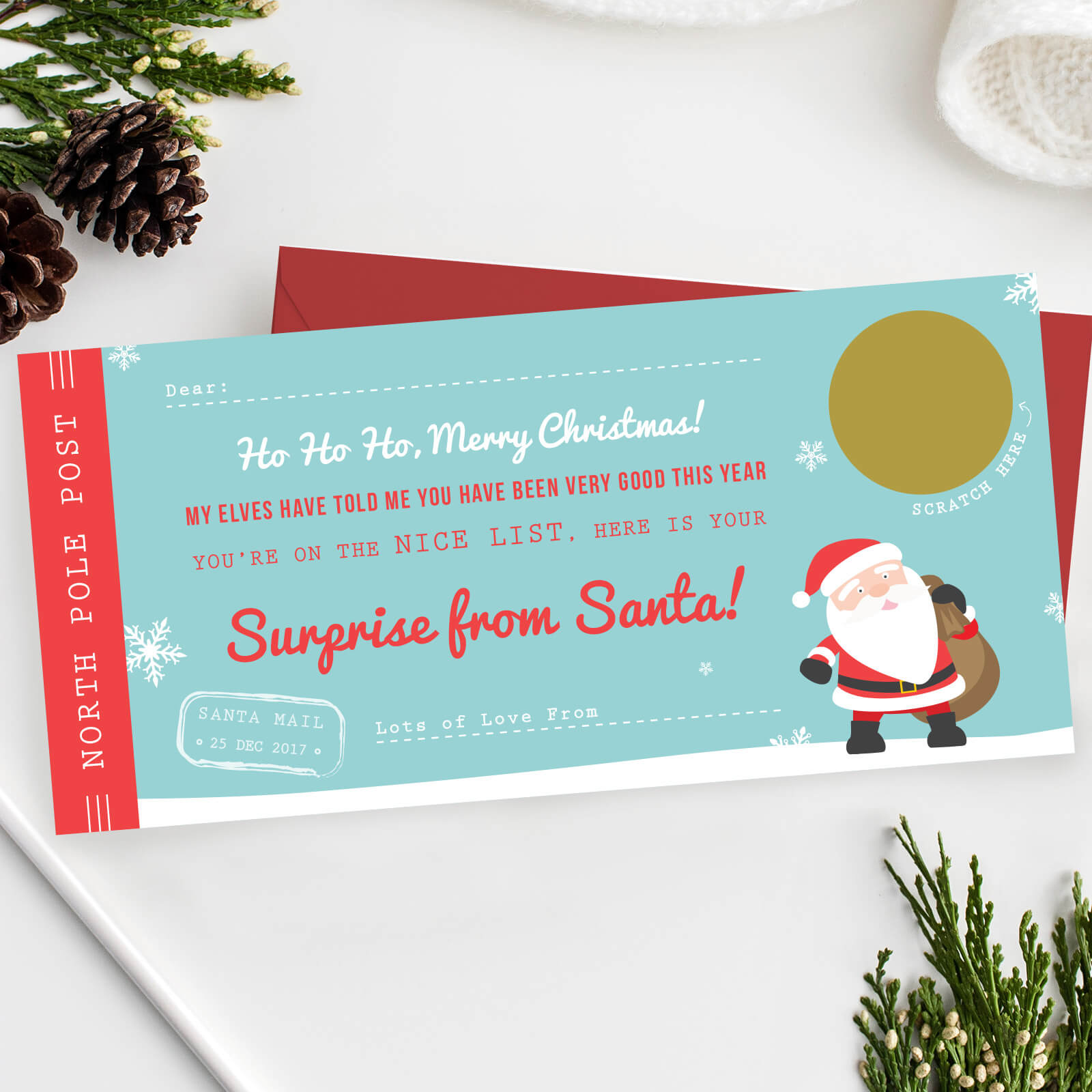 Santas Surprise Scratch Off Ticket The Perfect Christmas