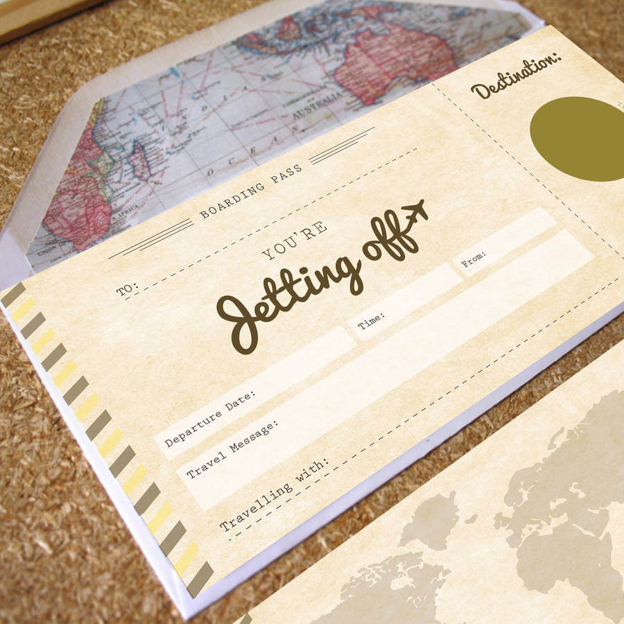 Youre Jetting Off Scratch Off Boarding Pass Designed By