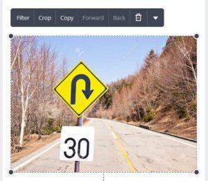 Se a imagem for menor que o papel, teremos de redimensioná-la. Clique sobre as alças nas pontas da imagem para alterarmos o tamanho.