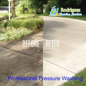 Picture of Driveway clean with a pressure Washer louisville