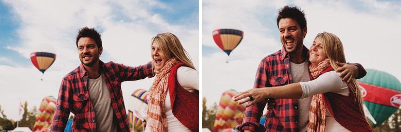 Sesion de embarazo con globos aerostaticos