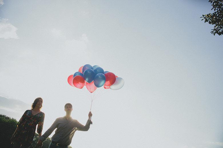 Sesion de novios con globos
