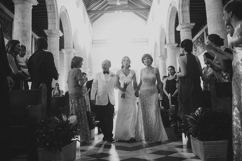 Matrimonio en la Catedral Santa Catalina de Alejandría, Cartagena, Colombia