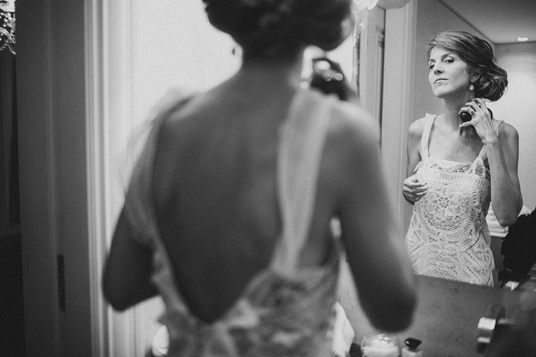 Fotografia del Backstage de la novia