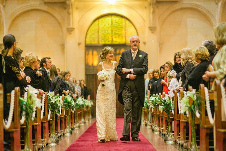 Fotografia de casamiento en iglesia