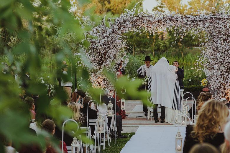 casamiento judio al aire libre