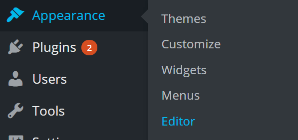 wordpress-appearance-editor
