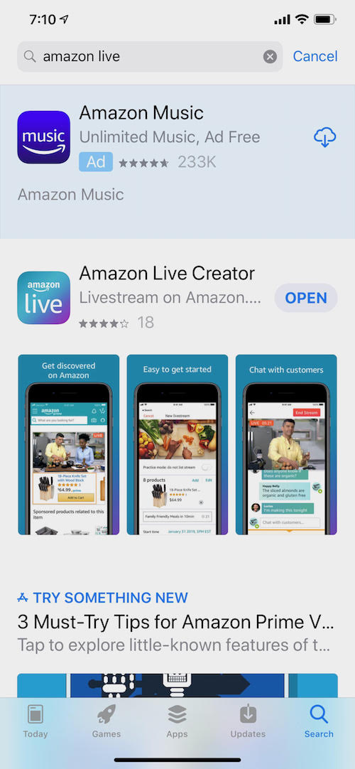 amazon live app