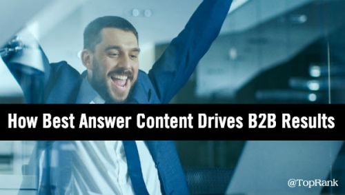 Best Answer Content B2B Marketing