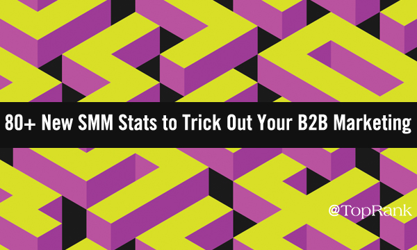 80+ new SMM statistics to trick out your B2B marketing colorful maze image.