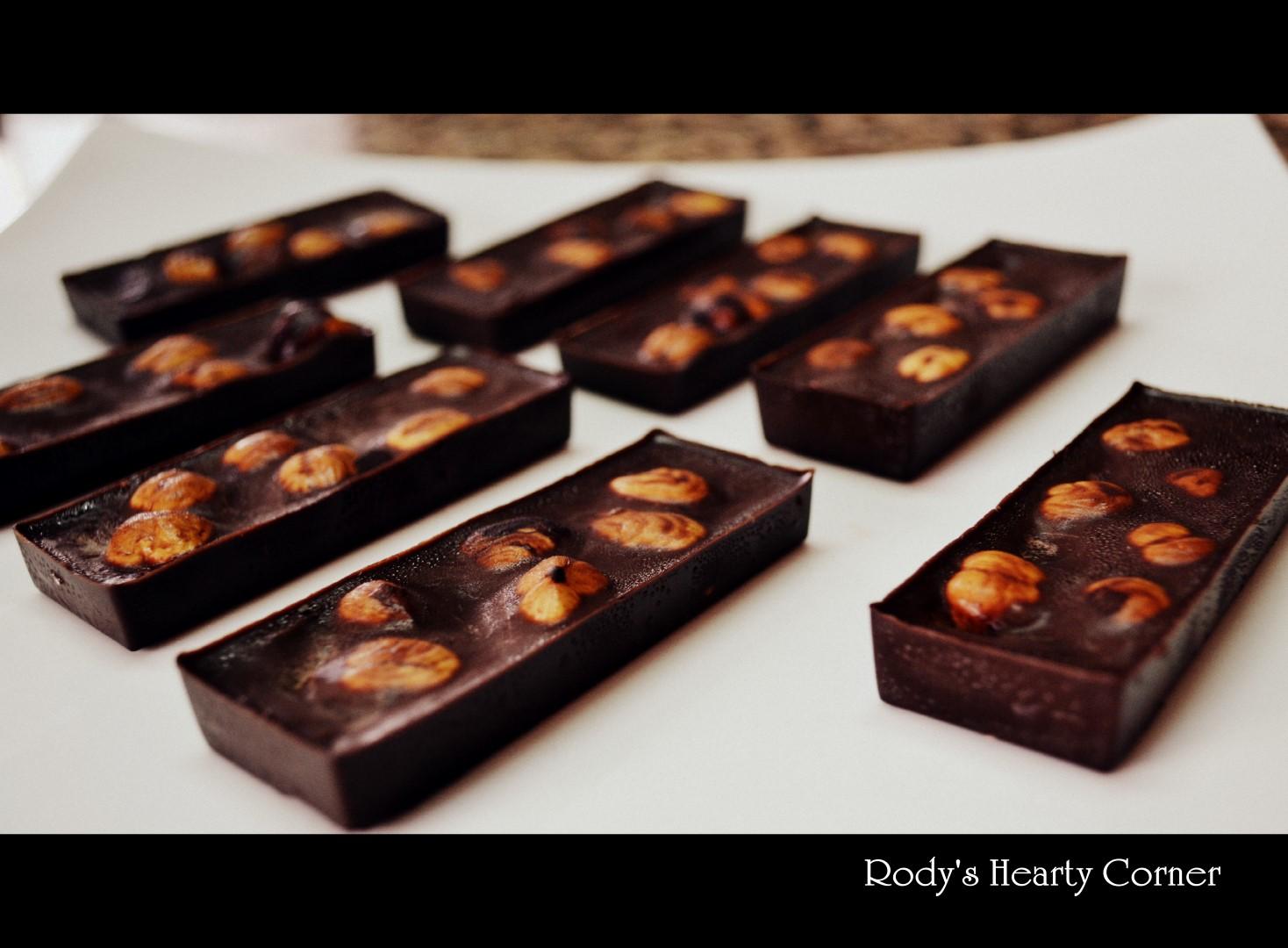 Homemade Hazelnut Chocolates