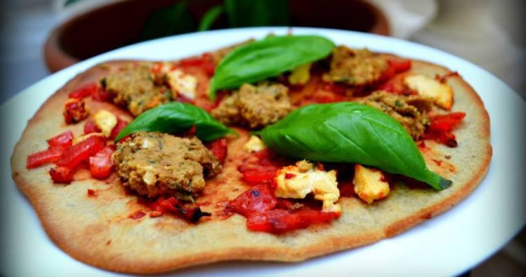 Quinoa flour pizza