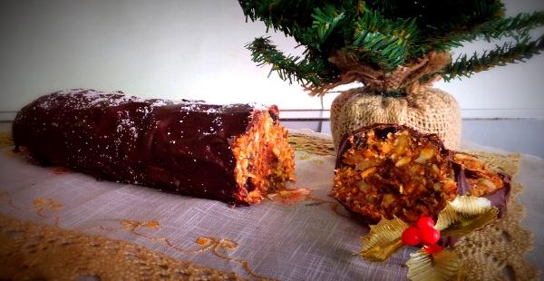My clean eating Christmas log