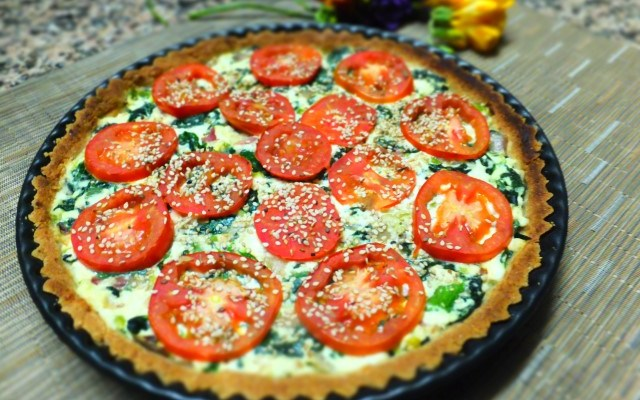 Spinach and Ricotta Pie (Healthy, Gluten & Grain Free)