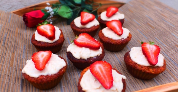 Beetroot, Lemon and Coconut muffins