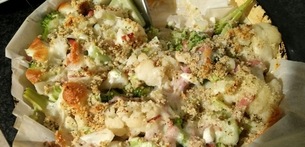 Easy Broccoli and Cauliflower Bake