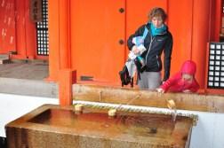 Oczyszczenie przed wejściem do świątyni