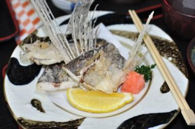 Ryba latająca na talerzu w Yakushimie
