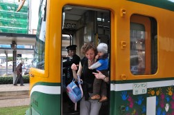 Kagoshima - wyjście z tramwaju