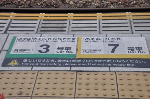 Shinkansen na peronie