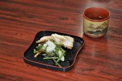 Suwa posiłek w japońskiej restauracji