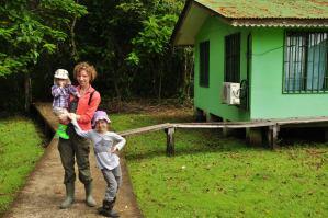 Tuż przed wejściem do lasów deszczowych w Tortuguero
