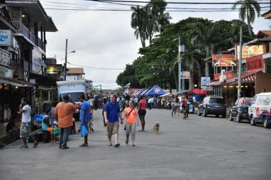 Główna ulica w Bocas del Toro