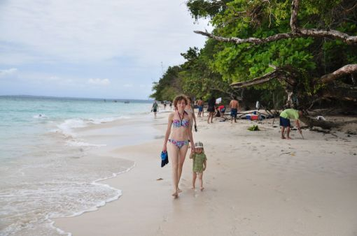 Spacer po bezludnej wyspie Zapatilla