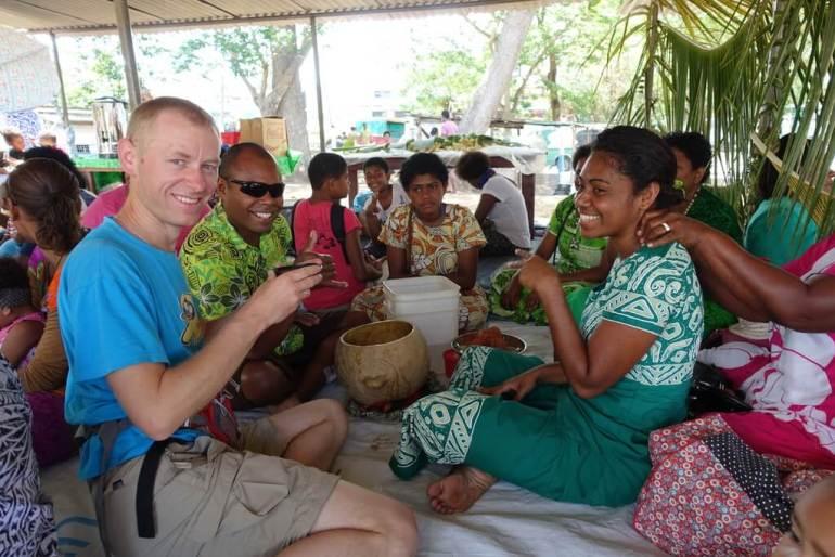 Pijemy napój kava na Fiji