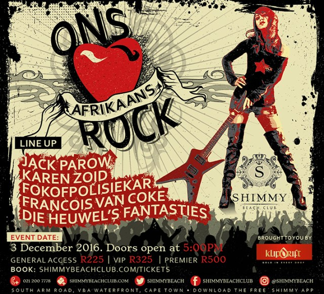 Ons Afrikaans Rock 2016 Poster