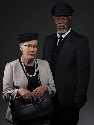 Sandra Prinsloo en John Kani