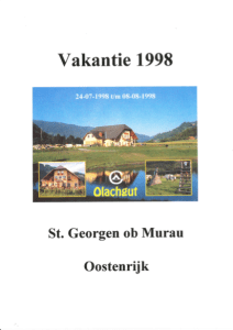 Zomerakantie 1998