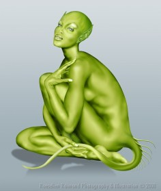 GreenDigital painting (Wacom)