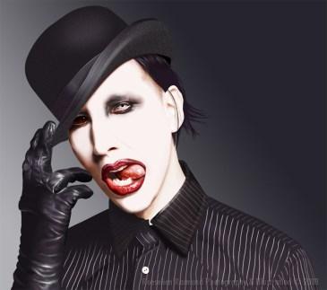 Marilyn MansonDigital painting (Wacom)